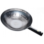BLACK MANDARIN STYLE WOK W/ IRON HANDLE