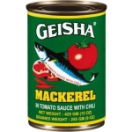 GEISHA MACKEREL IN TOMATO SAUCE W/CHILI