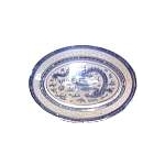 BLUE RICE OVAL PLATE CHINA 14