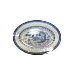 BLUE RICE OVAL PLATE CHINA 10