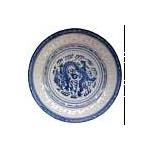BLUE RICE OVAL PLATE CHINA 9