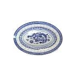 BLUE RICE OVAL PLATE CHINA 8