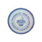 BLUE RICE ROUND PLATE CHINA 7