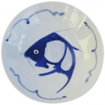 BLUE FISH ROUND DEEP SOUP PLATE 7