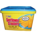 SUNFLOWER CRACKER PLAIN IN PLASTIC