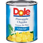 DOLE PINEAPPLE CHUNKS IN SYRUP