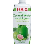 COCONUT WATER UHT W/PINK GUAVA FOCO