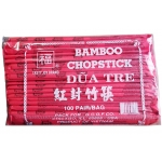 TASTY JOY BAMBOO CHOPSTICKS IN RED BAGS