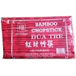 RABBIT BRAND BAMBOO CHOPSTICKS W/RED BAG